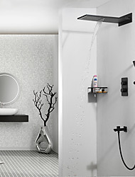 abordables -Grifo de ducha - Moderno Colocado en la Pared Válvula Cerámica