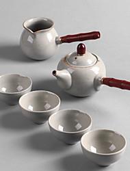 Недорогие -Фарфор Heatproof 6шт Чайник
