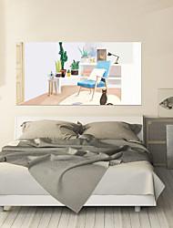 Недорогие -Декоративные наклейки на стены / Дверные наклейки - Простые наклейки / 3D наклейки Абстракция / Пейзаж Гостиная / Спальня