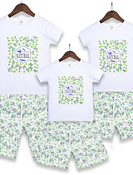 cheap -Adults Family Look Floral Short Sleeve Clothing Set