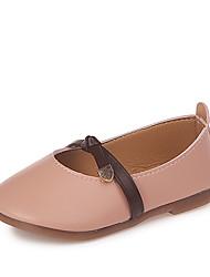 cheap -Girls' Shoes PU(Polyurethane) Spring & Summer Comfort Flats Walking Shoes for Kids Beige / Brown / Pink
