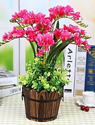 baratos -Flores artificiais 1 Ramo Clássico Rústico Flores eternas Flor de Mesa