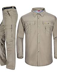 economico -Per uomo Pantaloni da escursione / Maglia da escursione Esterno Asciugatura rapida, Traspirabilità Set di vestiti Cerniere SBS Campeggio / Escursionismo / Speleologia