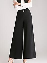 abordables -Mujer Básico Perneras anchas / Chinos Pantalones - Un Color