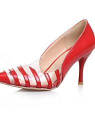 Недорогие -Жен. Полиуретан Весна Удобная обувь Обувь на каблуках На шпильке Закрытый мыс Черный / Желтый / Красный / Повседневные