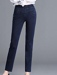 abordables -Mujer Básico Vaqueros Pantalones - Un Color