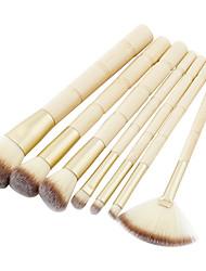 preiswerte -7 Stück Makeup Bürsten Professional Bürsten-Satz- Nylonfaser Umweltfreundlich / Weich Bambus