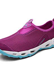 Недорогие -Жен. Обувь Сетка Лето Удобная обувь Спортивная обувь Дышащая спортивная обувь На плоской подошве Серый / Лиловый
