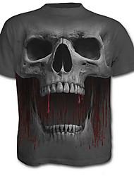 cheap -men's t-shirt - skull crew neck