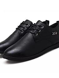 baratos -Homens Sapatos de Condução Couro Ecológico Primavera Oxfords Preto / Cinzento / Khaki