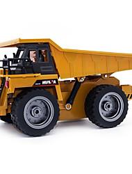 abordables -Coche de radiocontrol  540 6 Canales 2.4G Vehículo de construcción 1:64 10 km/h KM / H