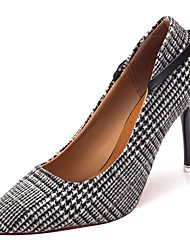 cheap -Women's Shoes Cotton Summer Basic Pump Heels Stiletto Heel Pointed Toe Bowknot Black / Coffee / Party & Evening