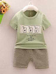billige -Baby Drenge Trykt mønster Kortærmet Tøjsæt