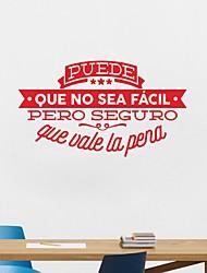 Недорогие -Декоративные наклейки на стены - 3D наклейки / Стикеры стикеров Words & Quotes Персонажи / Геометрия Кабинет / Офис / Офис