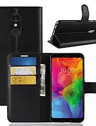 Недорогие -Кейс для Назначение LG LG X venture / LG V30 / LG V20 MINI Кошелек / Бумажник для карт / Флип Чехол Однотонный Твердый Кожа PU / LG G6