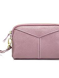 cheap -Women's Bags Faux Leather Clutch Zipper Geometric Navy Blue / Purple / Wine