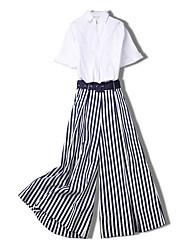 abordables -Mujer Conjunto - A Rayas Pantalón