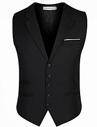cheap -men's vest - solid colored v neck