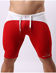 baratos -Homens Calcinhas, Shorts & Calças de Praia - Estampa Colorida Bermuda de Natação
