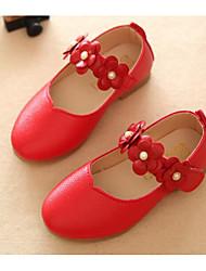abordables -Fille Chaussures Polyuréthane Printemps & Automne Confort / Chaussures de Demoiselle d'Honneur Fille Ballerines pour Blanc / Rouge / Rose