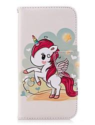 ieftine -Maska Pentru Samsung Galaxy J6 / J4 Portofel / Titluar Card / Cu Stand Carcasă Telefon Inorog Greu PU piele pentru J7 (2017) / J6 / J5 (2017)