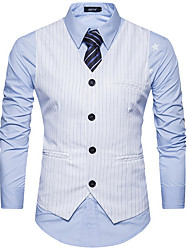 cheap -Men's Work Vest - Contemporary Shirt Collar / Long Sleeve