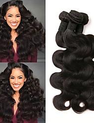 baratos -6 pacotes Cabelo Peruviano Ondulado Cabelo Humano Cabelo Humano Ondulado / Extensões de Cabelo Natural 8-28 polegada Natural Tramas de cabelo humano Fabrico à Máquina Melhor qualidade / 100% Virgem