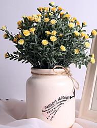 baratos -Flores artificiais 1 Ramo Clássico / Solteiro (L150 cm x C200 cm) Rústico Margaridas Flor de Mesa