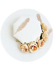Недорогие -Ткань Головные уборы с Цветы 1шт / 1 шт. Свадьба / Особые случаи Заставка