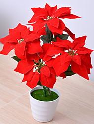 abordables -Flores Artificiales 1 Rama Clásico Elegante Plantas Flor de Mesa