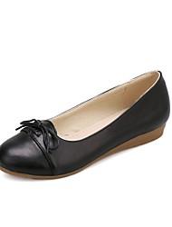 baratos -Mulheres Sapatos Couro Ecológico Primavera Verão Conforto Rasos Sem Salto Roxo / Rosa claro / Amêndoa
