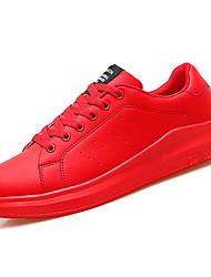 baratos -Homens sapatos Couro Ecológico Outono Solados com Luzes Tênis Branco / Vermelho / Branco / Preto