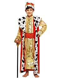 cheap -Cosplay Outfits Boys' Halloween / Carnival / Children's Day Festival / Holiday Halloween Costumes Golden Solid Colored / Halloween Halloween