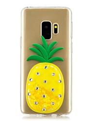 ieftine -Maska Pentru Samsung Galaxy S9 Plus / S9 Scurgere Lichid Capac Spate Fruct Moale TPU pentru S9 / S9 Plus / S8 Plus