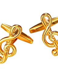 cheap -Silver / Golden Cufflinks Copper Music Notes Formal / Fashion Men's Costume Jewelry For Gift / Daily
