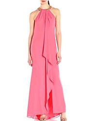 baratos -Mulheres Moda de Rua / Sofisticado balanço Vestido - Pregueado, Sólido Longo