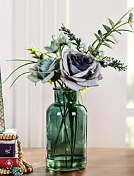 baratos -Flores artificiais 1 Ramo Clássico / Solteiro (L150 cm x C200 cm) Pastoril Estilo Rosas Flor de Mesa
