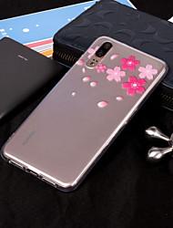 povoljno -Θήκη Za Huawei P20 Pro / P20 lite IMD / Prozirno / Uzorak Stražnja maska Cvijet Mekano TPU za Huawei P20 / Huawei P20 Pro / P10 Plus