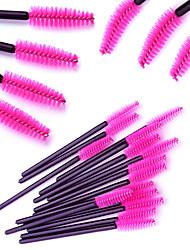 Недорогие -профессиональный Кисти для макияжа Щетка для ресниц (круглая) 100шт Для профессионалов удобный Синтетические волосы Пластик за