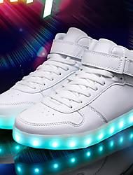 Недорогие -Муж. Осветительная обувь Полиуретан Лето Кеды Белый / Черный