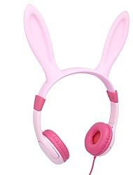cheap -LEISA I3D Kids Headphones Wired Over Ear Headphones With Bunny Ears 85dB Volume Limited Food Grade Silicone 3.5mm Jack