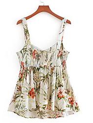 cheap -Women's Going out Shirt - Floral Strap