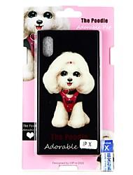 Недорогие -Кейс для Назначение Apple iPhone X С узором Кейс на заднюю панель С собакой Твердый Закаленное стекло для iPhone X / iPhone 8 Pluss / iPhone 8