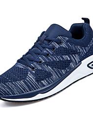 cheap -Men's Knit / Elastic Fabric Summer Comfort Athletic Shoes Running Shoes Color Block Black / Dark Blue / Gray
