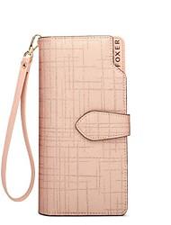 cheap -Women's Bags PU(Polyurethane) Wallet Buttons Black / Light Gold