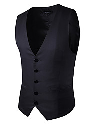 cheap -Men's Work Vest - Solid Colored / Sleeveless