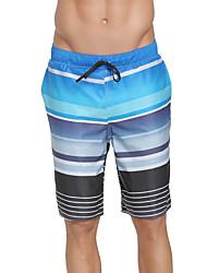 abordables -SBART Hombre Pantalones de Natación Impermeable, Secado rápido, Listo para vestir Poliéster / Licra Bañadores Ropa de playa Pantalones de Surf Rayas Surfing / Playa / Deportes acuáticos / Elástico
