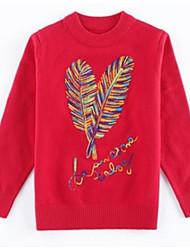 cheap -Kids Girls' Basic Floral Long Sleeve Cotton Sweater & Cardigan