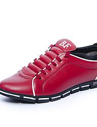 Недорогие -Муж. Полиуретан Осень Удобная обувь Кеды Коричневый / Красный / Синий