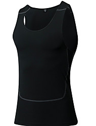 cheap -Men's Scoop Neck Sporty Running Tank Top - Black Sports Tank Top Activewear Sweat-wicking Stretchy